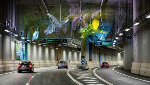 trafik i tunnel
