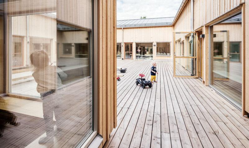 Innergård på Bärstad förskola