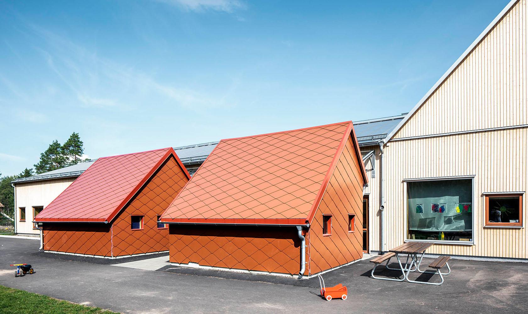 Röda hus till Bärstad förskola