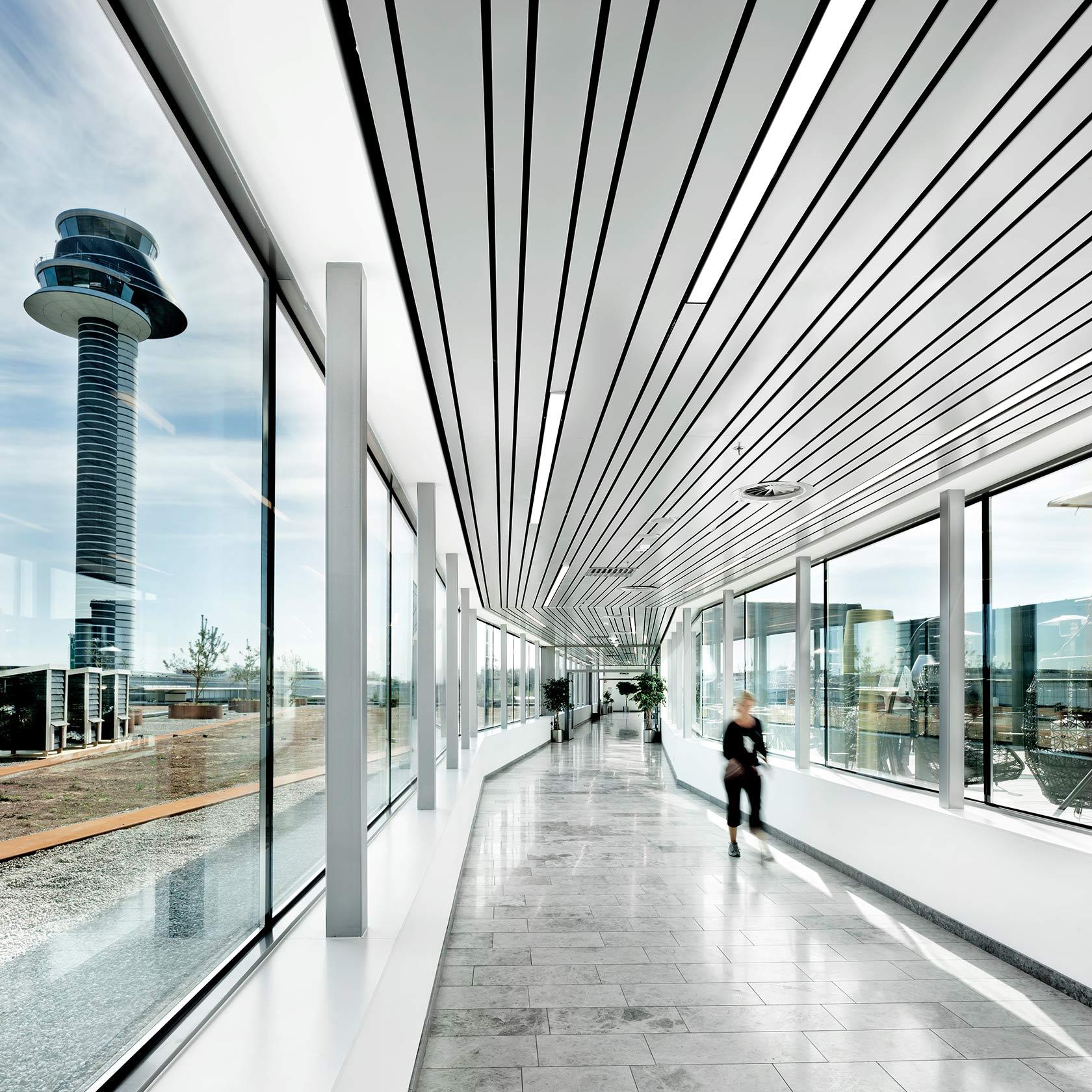 Korridor på Clarion hotel Arlanda