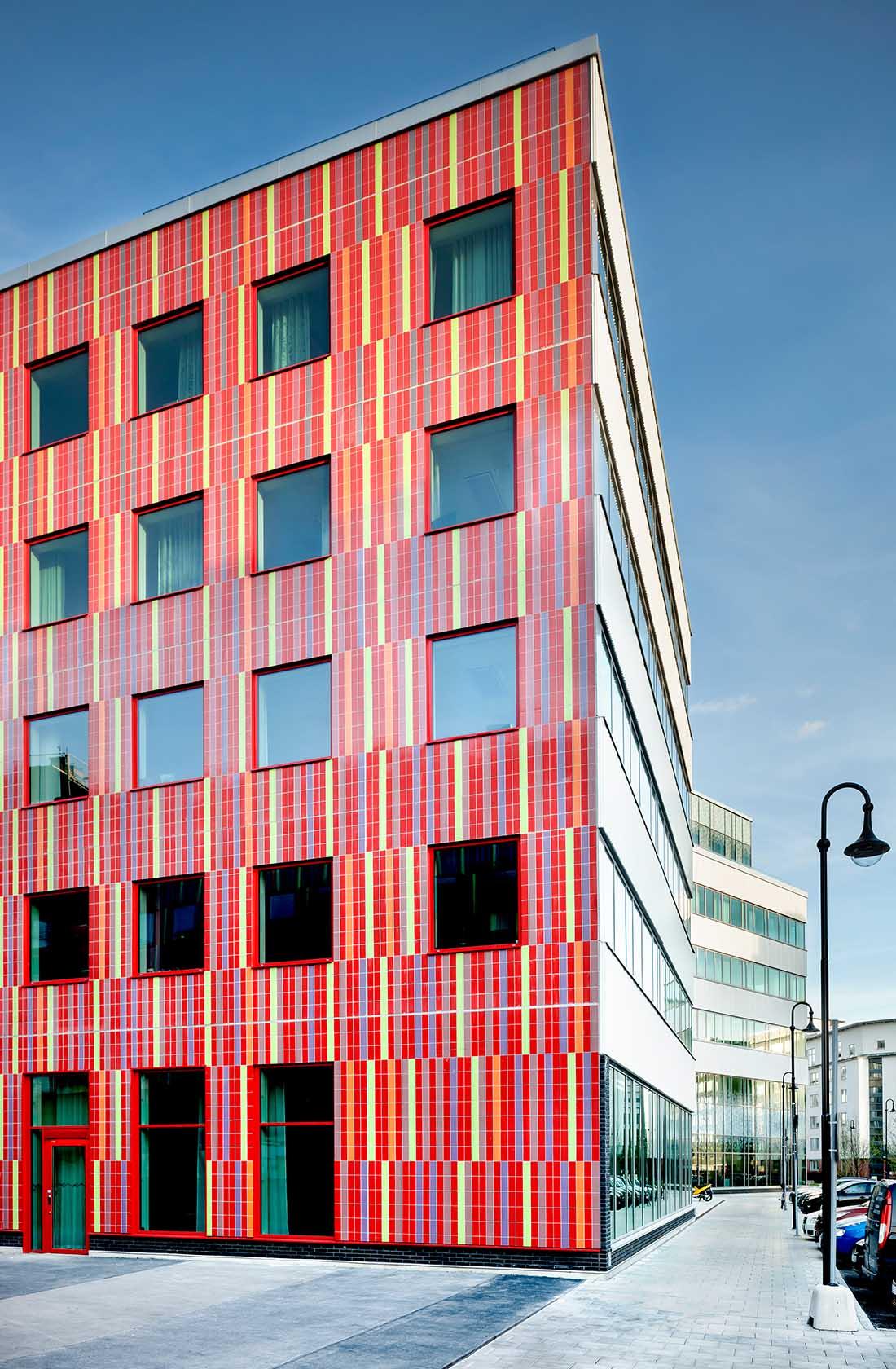 Färgglad fasad