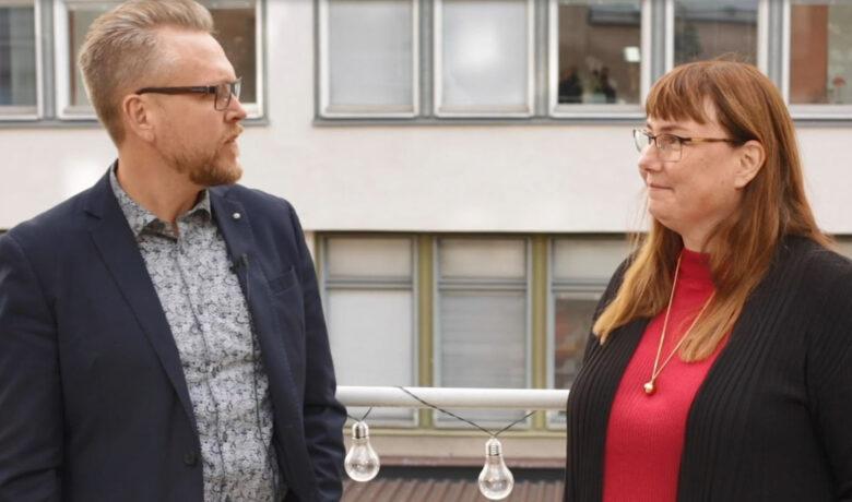 Fredrik och Maria pratar