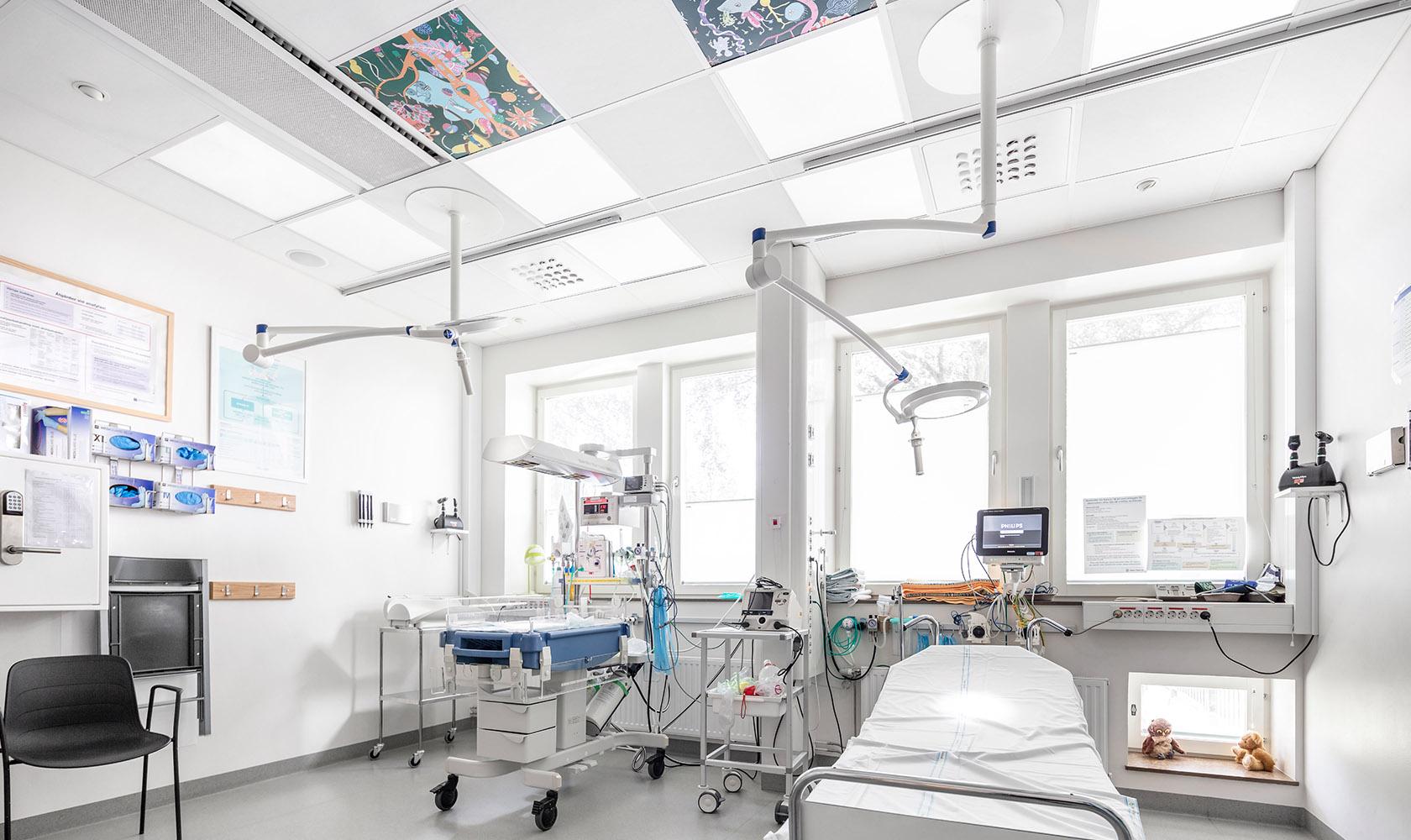 Sjukhusrum på barnakuten