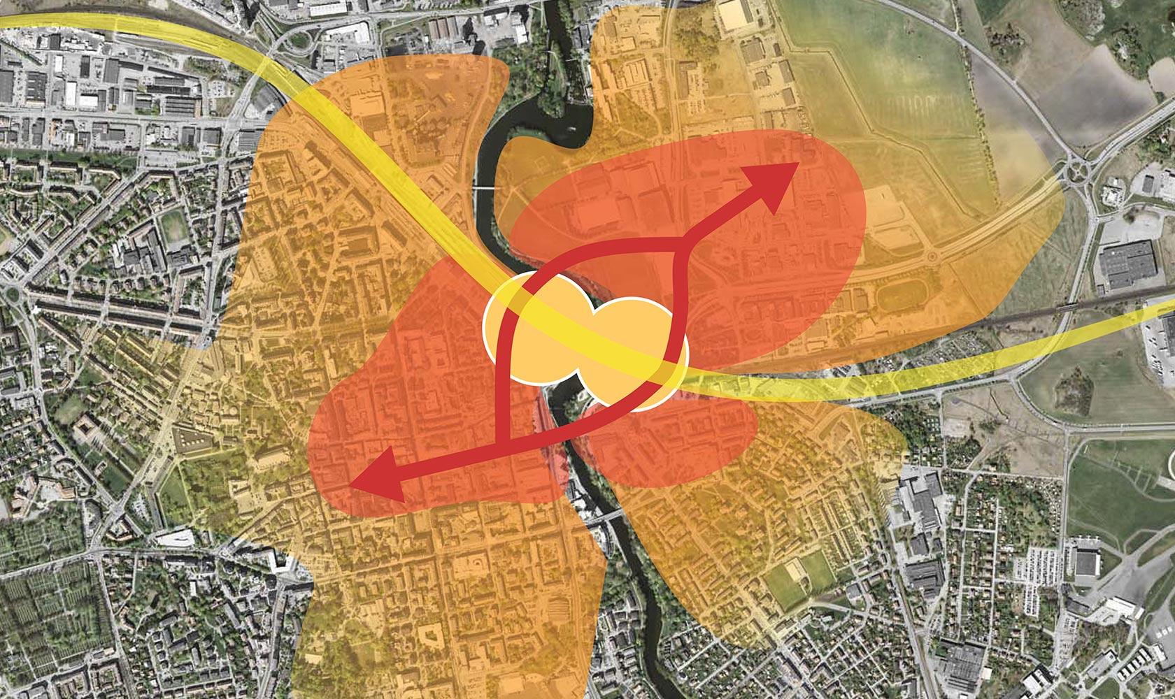 Karta över Linköpings nya resecentrum