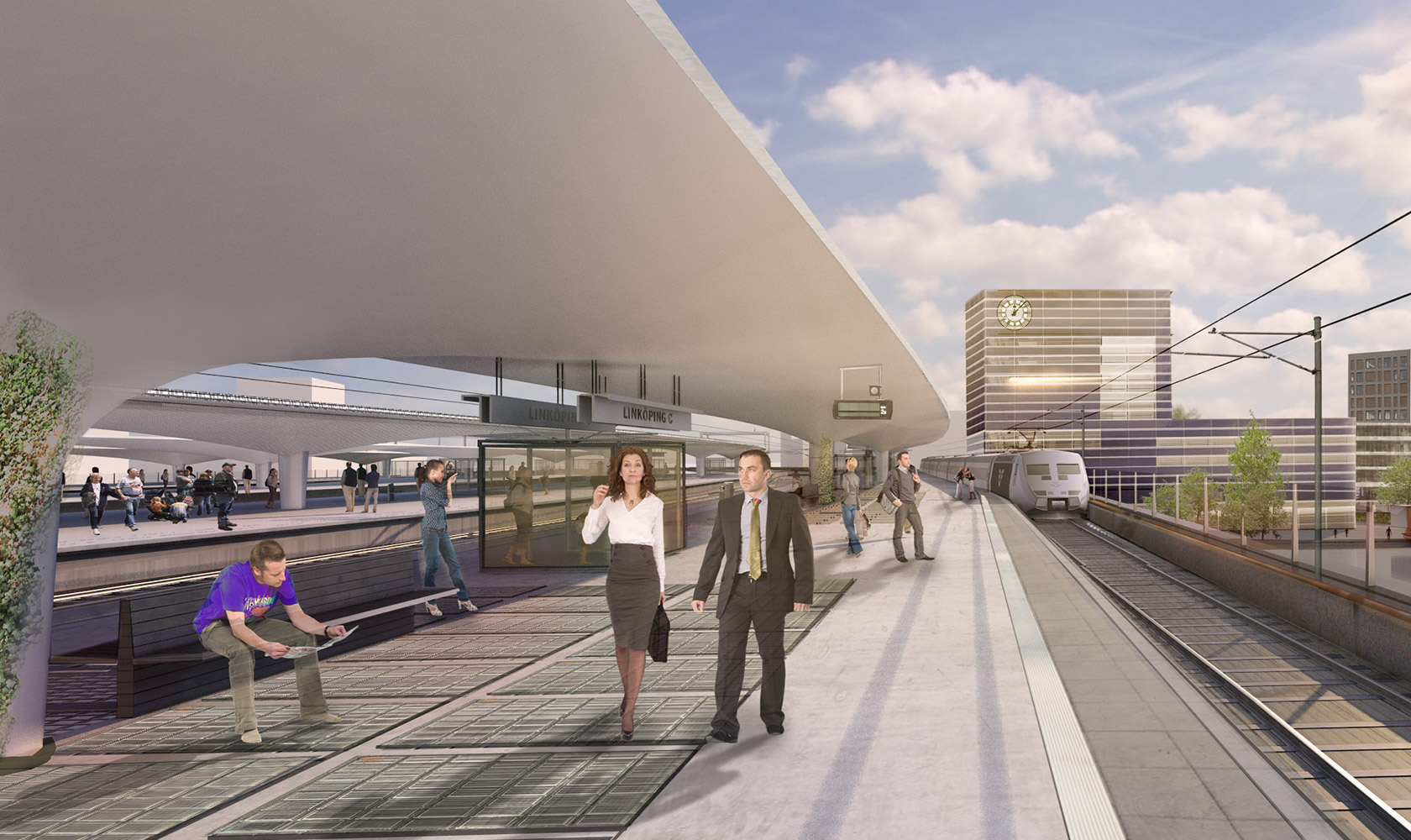 Station vid Linköpings nya resecentrum