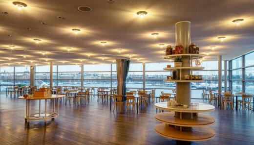 Moderna Museets restaurang med utsikt över Stockholm. Foto: Sten Jansin