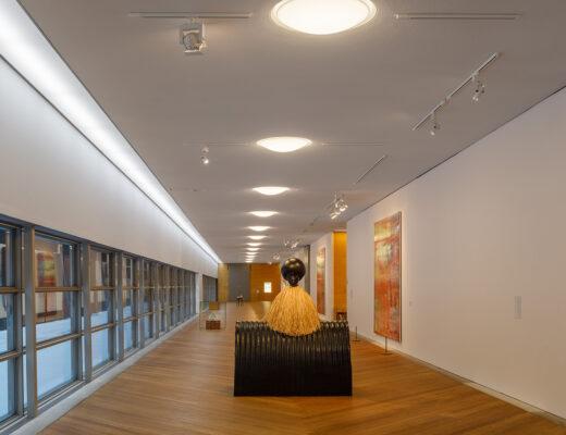 Moderna Museet - korridor med utställningsmöjligheter. Foto: Sten Jansin