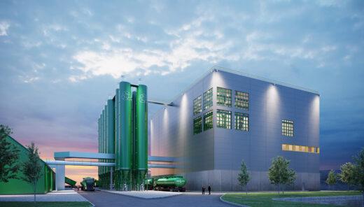Visualiserad fabriksbyggnad för Ragn-Sells