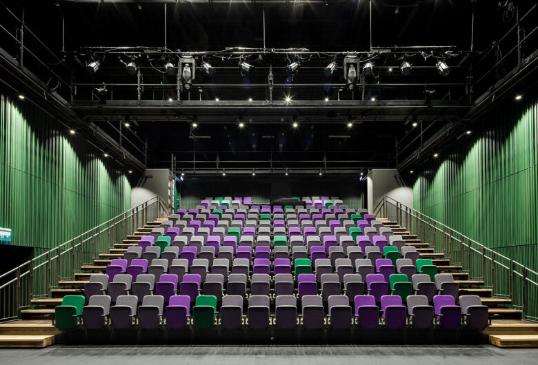 Salong med scen på Teaterkvarteret Sundsvall