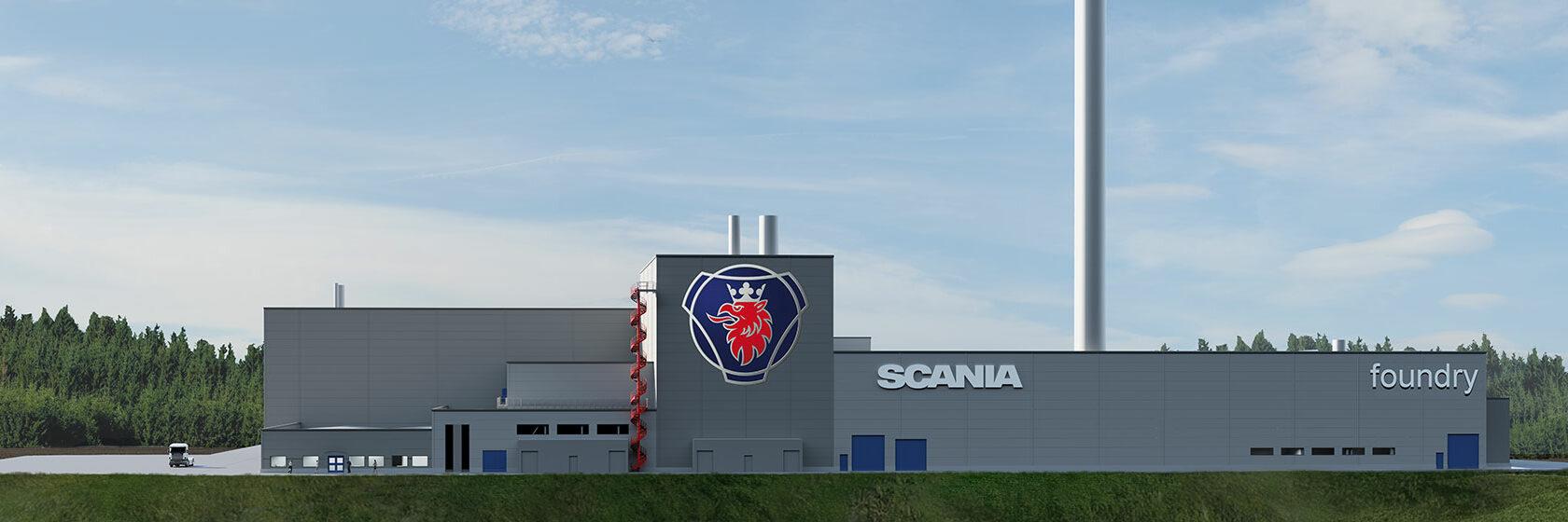 Scanias nya gjuterifabrik framifrån