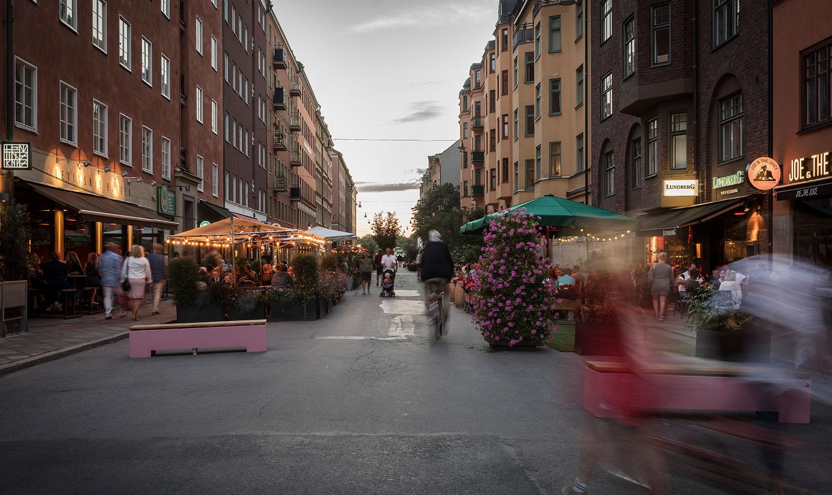 Sommargågata i Stockholm