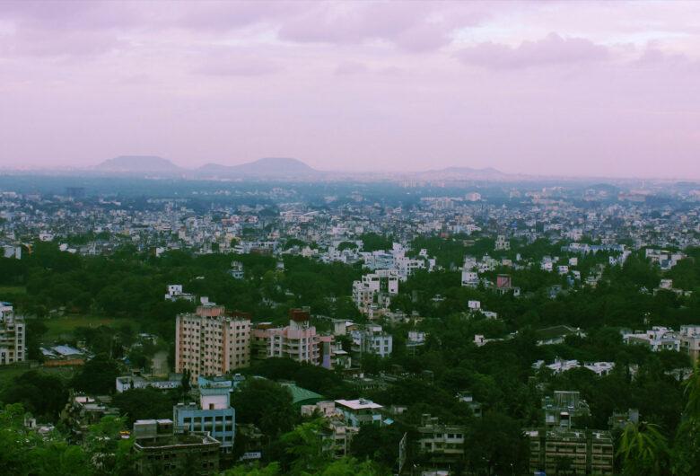 Vy över staden Pimpri, Indien