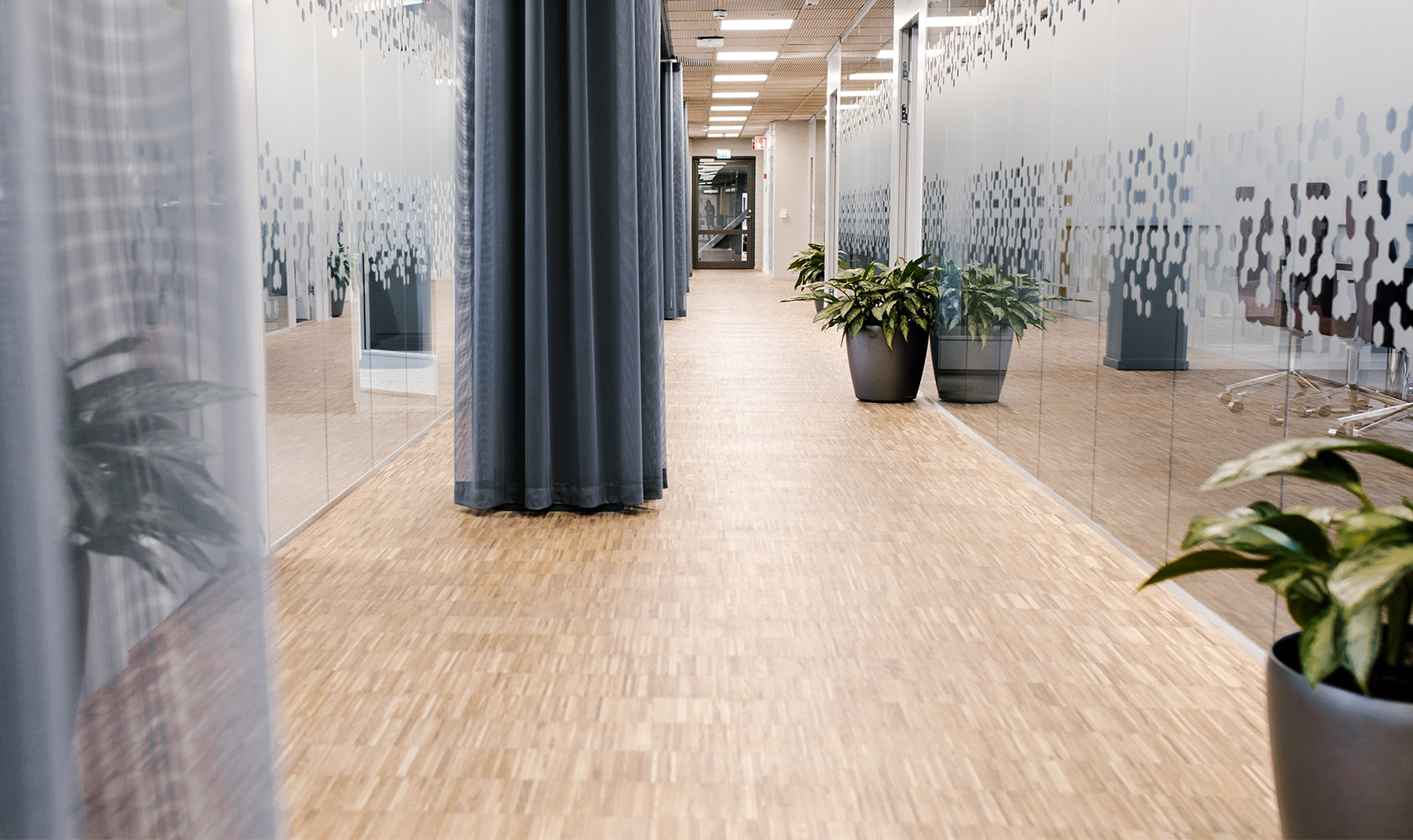 Korridor på kontor Epiroc