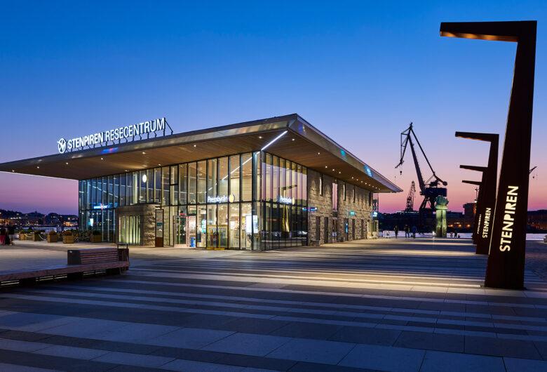 Kvällbils på Skeppsbron, Stenpiren Göteborg