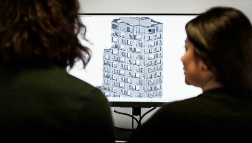 3D-modell av fastighet