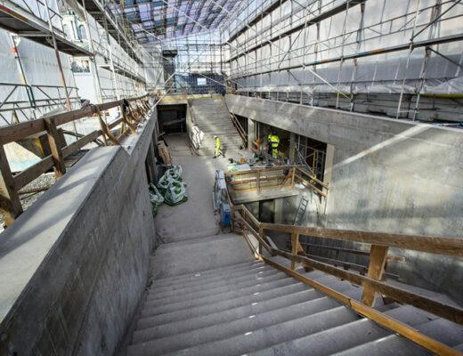 arbetsplats vid tunnelbana Odenplan