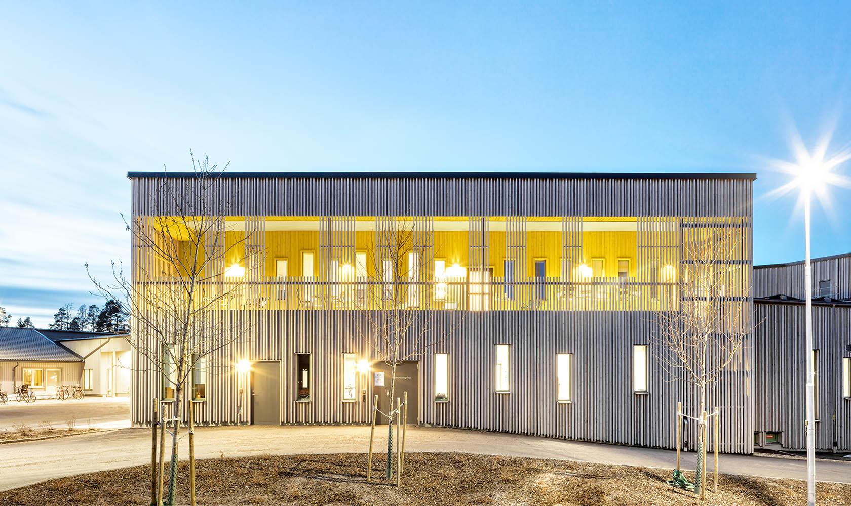 Byggnad av Tallmon vård- och omsorgsboende
