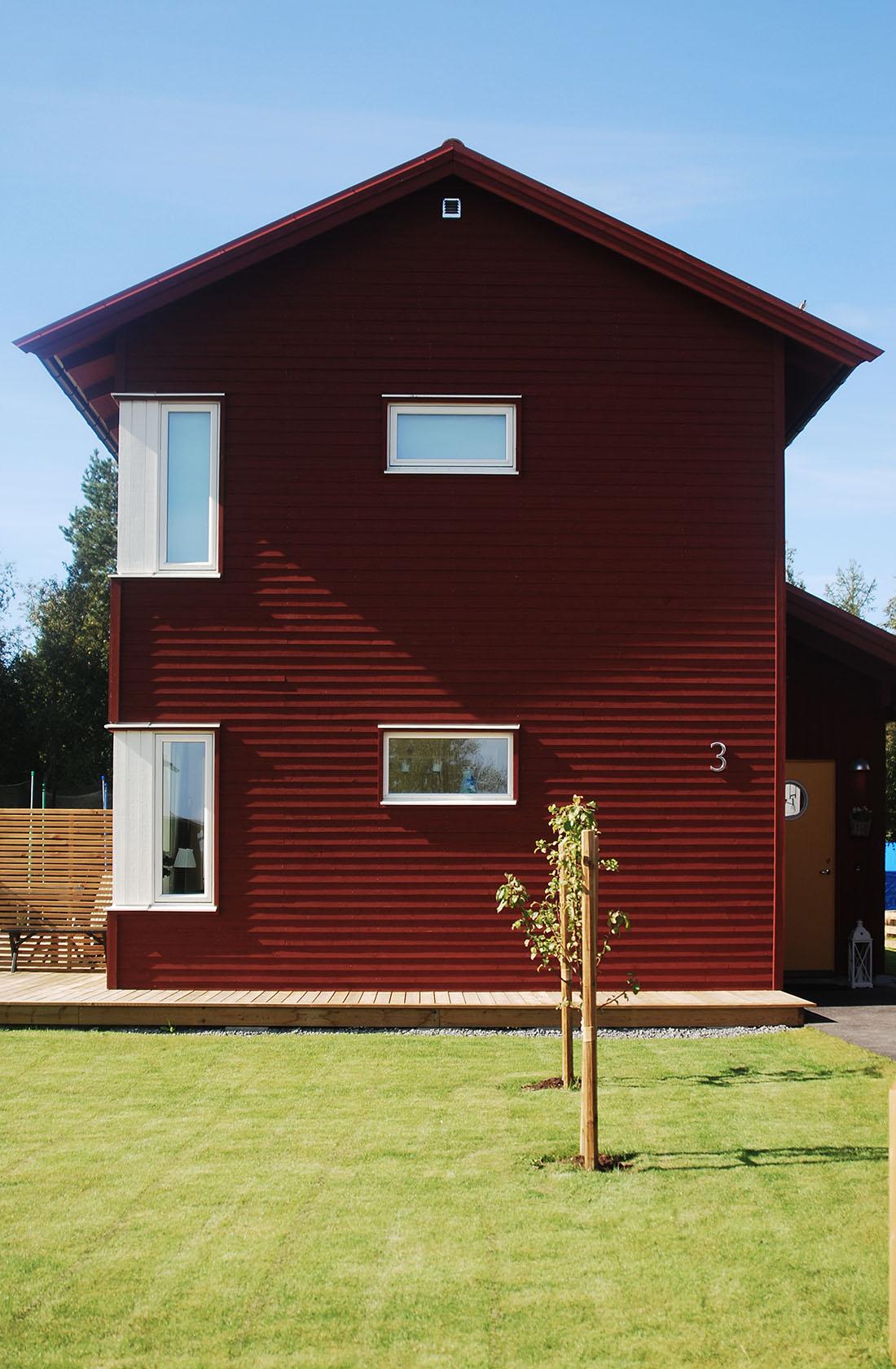 Hus i rött