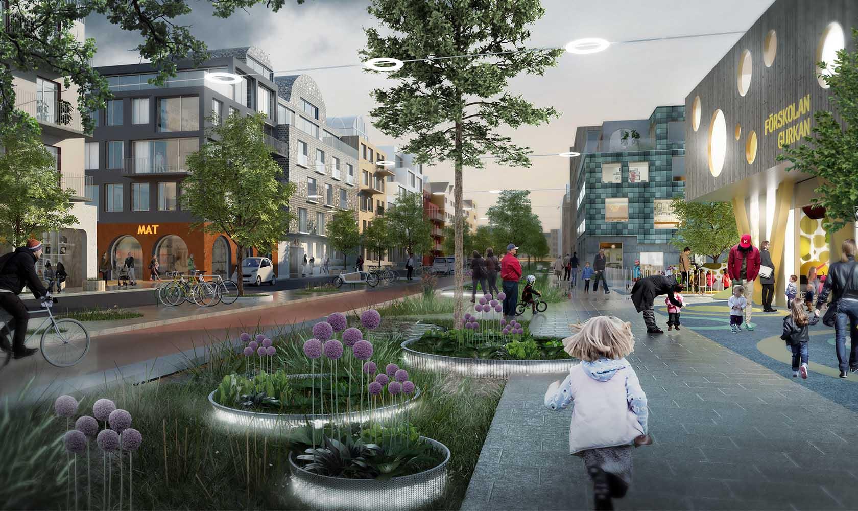 Lummiga gator i Sätra Västerås