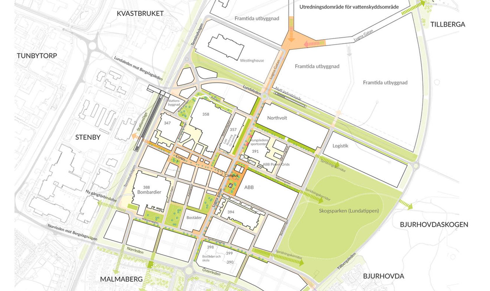 Stadsplan för Finnslätten
