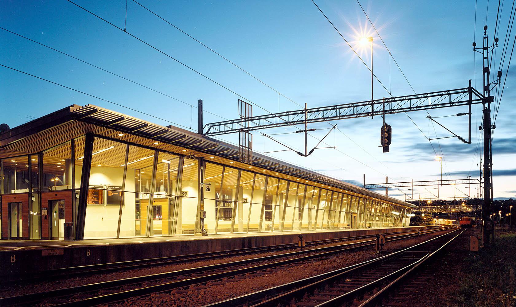Tågspår vid Jönköpings resecentrum