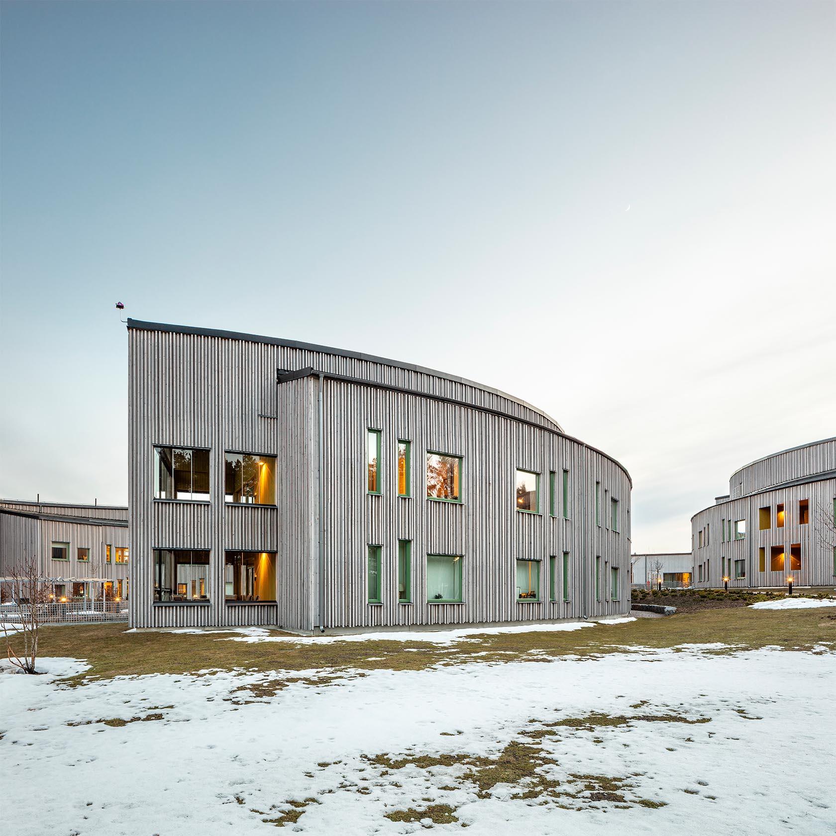 Byggnad formad efter en hästsko