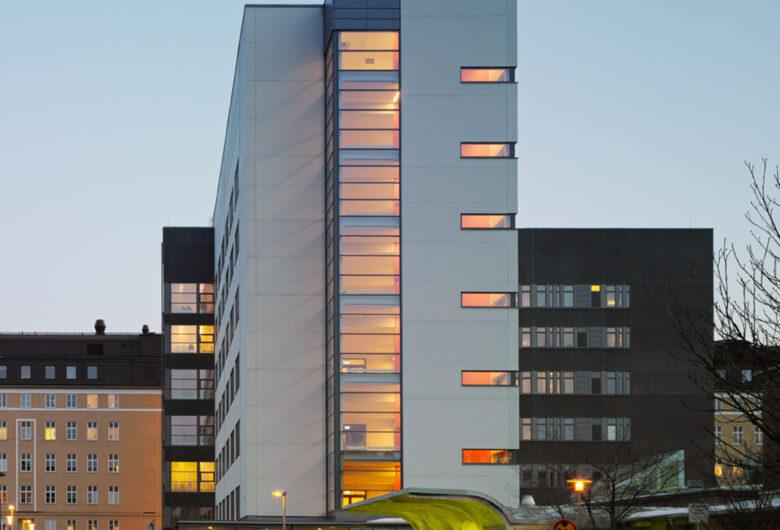 Tehuset vårdbyggnad i Borås entré