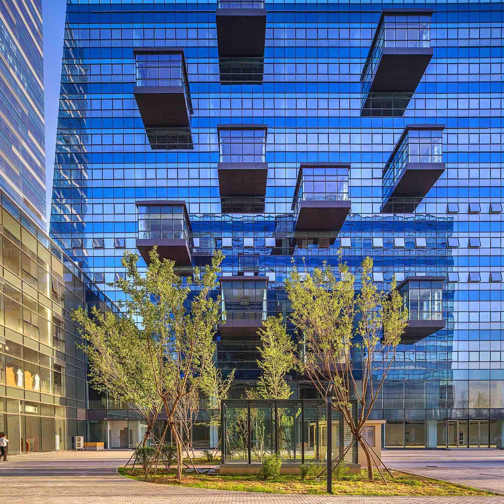 Fasad på Xijin Times Center