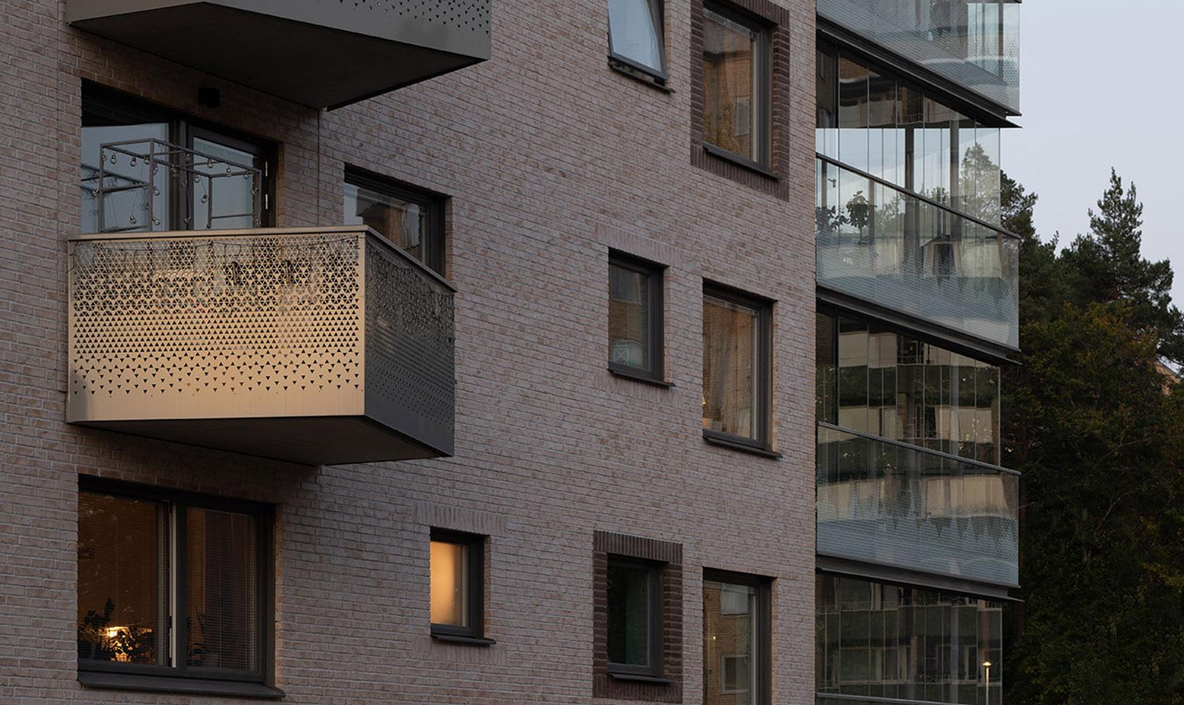 Balkonger på bostadshus