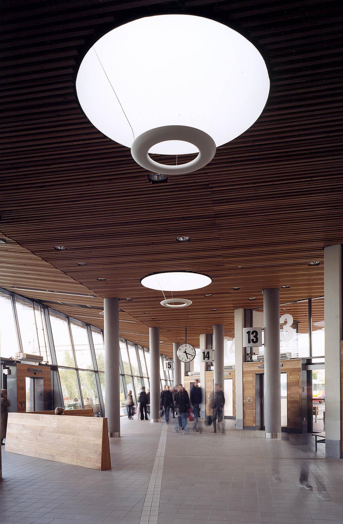 Interiör av Jönköpings bussterminal
