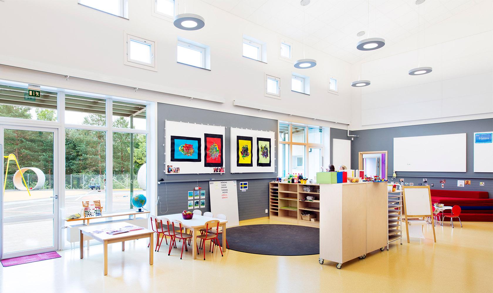 Kreativ yta på förskola