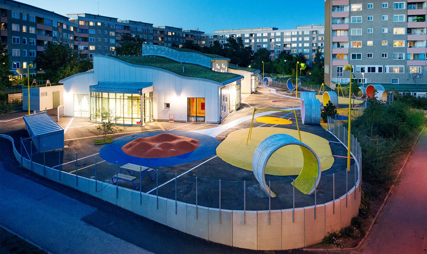 lekplats på Henrikdalshöjdens förskola