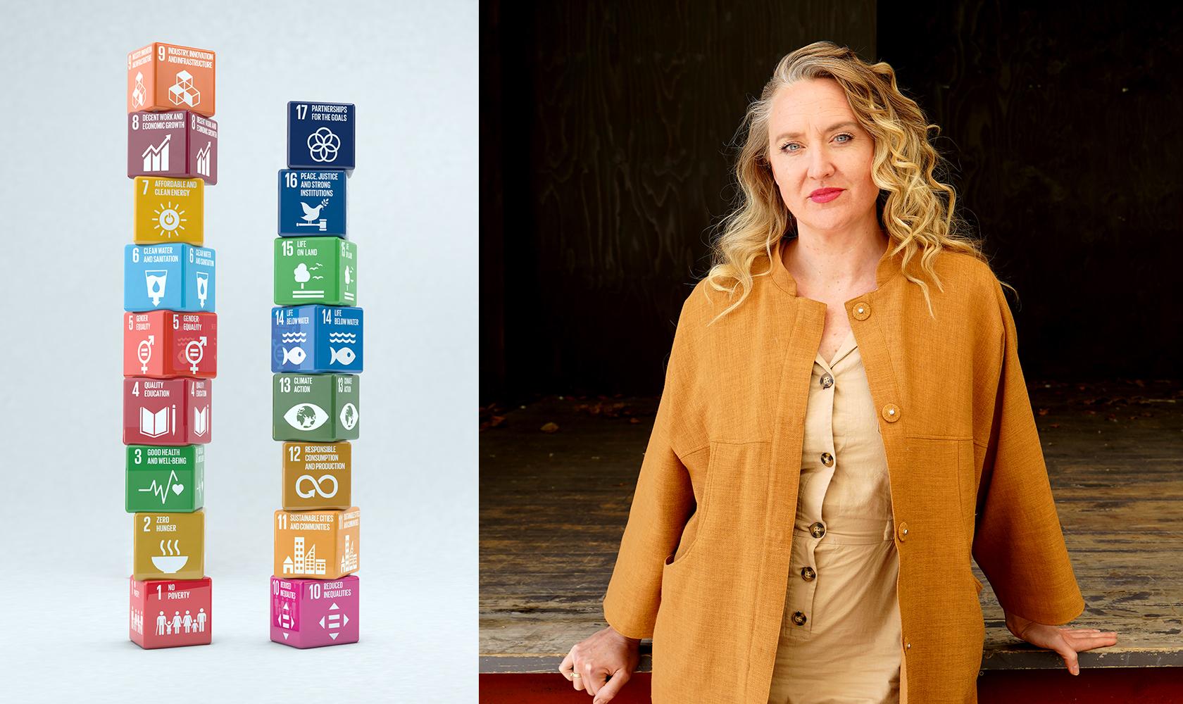 Elise Grosse vid de globala målen
