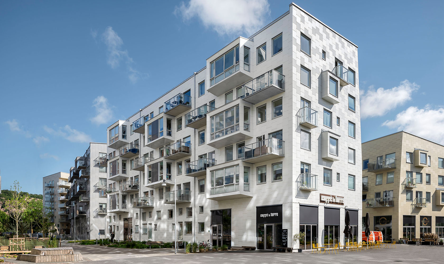 flerbostadshus Lindholmshamnen Göteborg