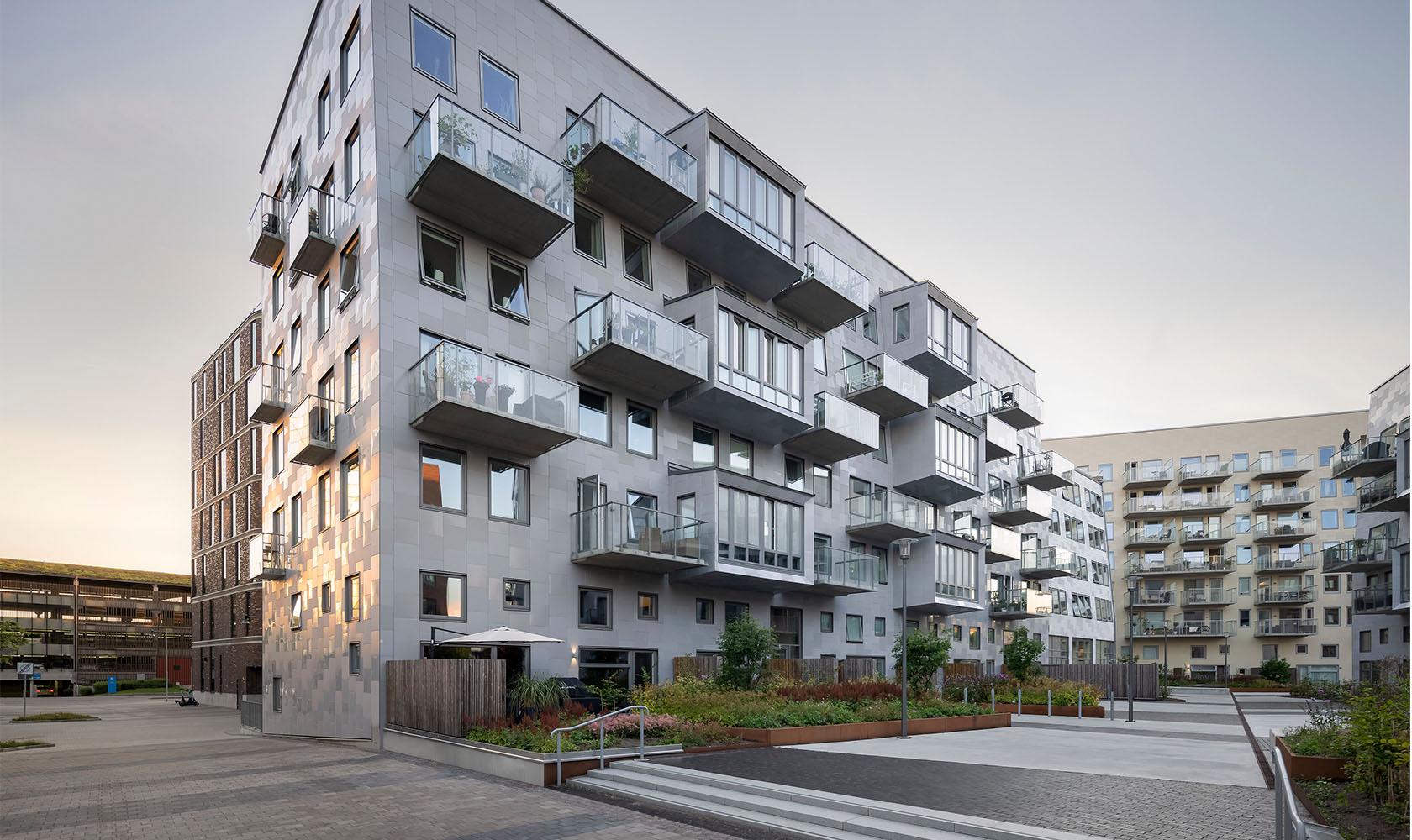 Bostadshus Lindholmshamnen Göteborg